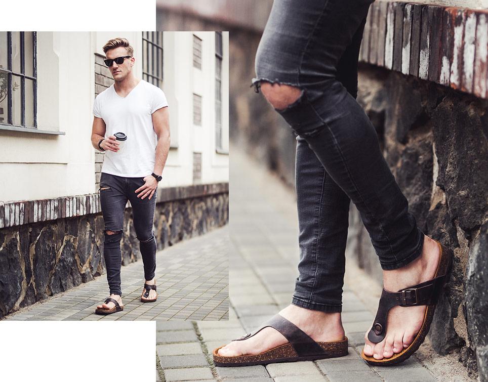 7209767d01a73 Keď sa opýtate muža, aký typ topánok je najpohodlnejší, tak hneď po  teniskách spomenie zaručene sandále. V nových kolekciách City Hunter a  Summer Ride vás ...